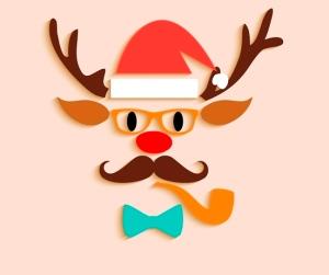 Merry Christmas reindeer cartoon