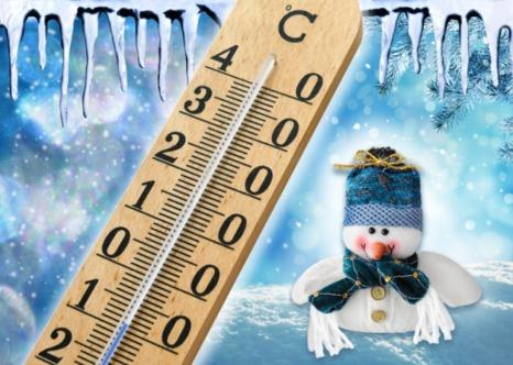 Seasonal cold winter weather