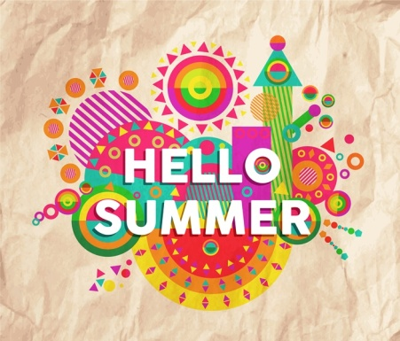 Hello summer quote poster design