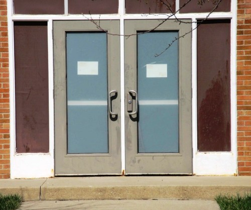 school door