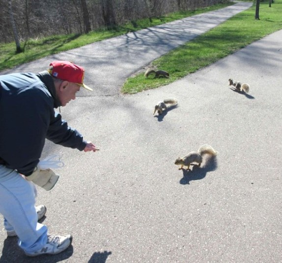 MIKE ENTICING SQUIRRELS