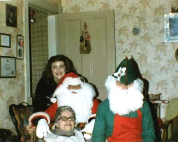 Linda Mom Santa and Elf.JPG