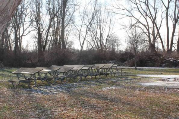 boat launch picnic tables