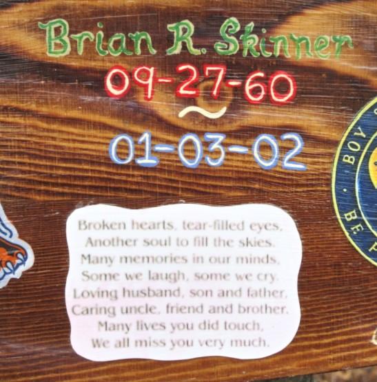 plaque close up