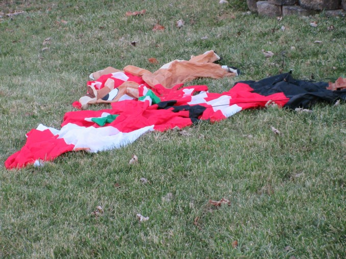 santa and reindeer collapsed